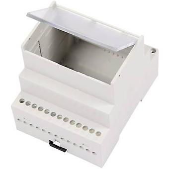 MR4/A FA TR RAL7035 ABS DIN rail casing with transparent cover 70 x 90 x 68 Acrylonitrile butadiene styrene Grey-white (RAL 7035) 1 pc(s)