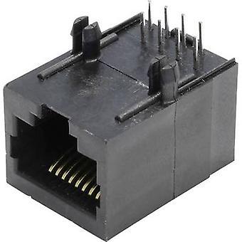 Modulära monterade socket Socket, horisontella mount MSEU88A svart econ ansluta MSEU88A 1 dator