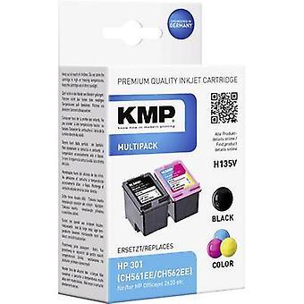 KMP Ink set replaced HP 301 Compatible Set Black,