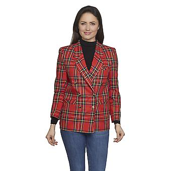 Ladies classic tartan blazer David Barry DB612