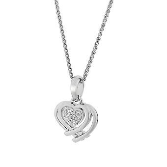 Orphelia Silver 925 Pendant with Chain Heart Shape Zirconium