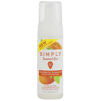 Simply summer's eve cleansing foam, mandarin blossom, 5 oz