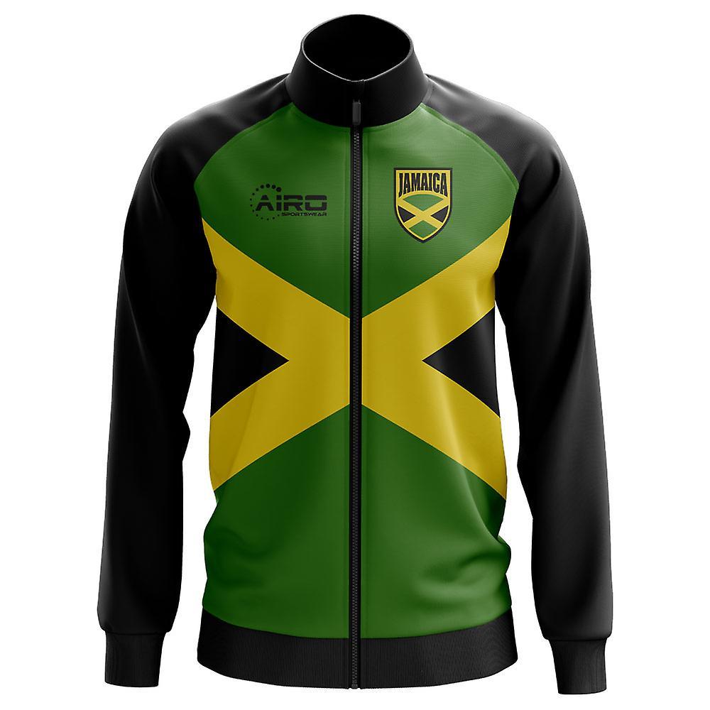 جامايكا لكرة القدم مفهوم المسار سترة (أخضر)