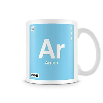 Scientific Printed Mug Featuring Element Symbol 018 Ar - Argon