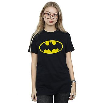 DC Comics Women's Batman Logo Boyfriend Fit T-Shirt