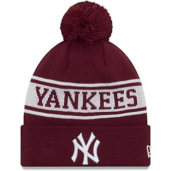 New Era New York Yankees saisonnière Jake Bobble Beanie chapeau