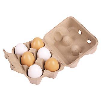 Kartonnen Doosje met Houten Eieren