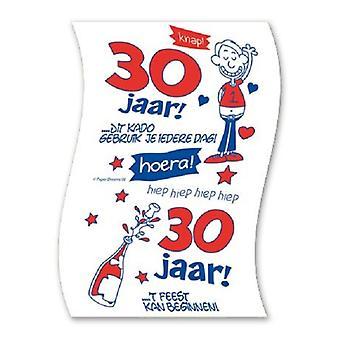 Toiletpapier 30jaar man nr06