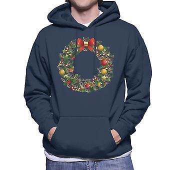Natale corona Multi gatto felpa con cappuccio