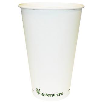 Edenware pared simple compostables tazas 16oz