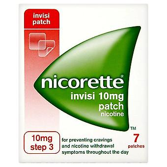 Nicorette InvisiPatch, stap 3, 10 mg, 7 nicotinepleisters (stoppen met roken hulp)