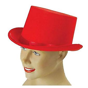 Top Hat. Red Satin .