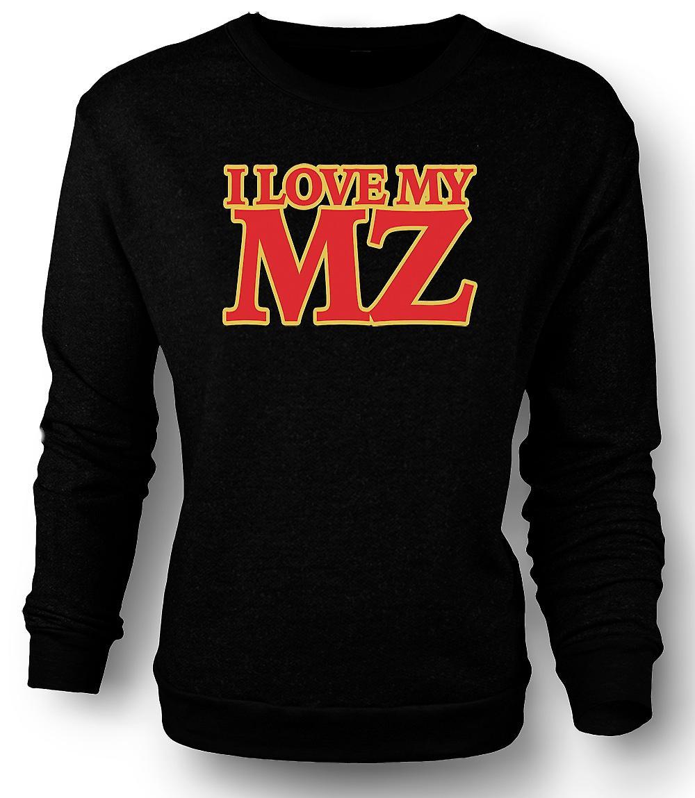 Mens Sweatshirt dat ik hou van mijn MZ - motorfiets - Biker