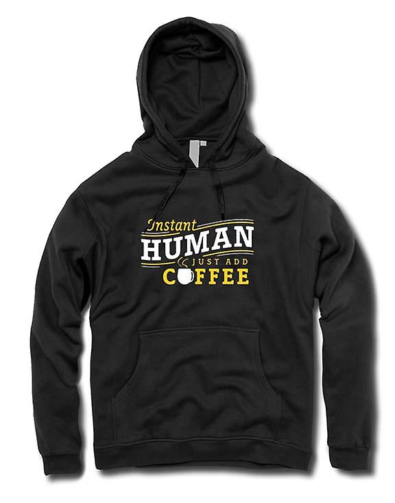 Mens Hoodie - Instant human, just add Coffee
