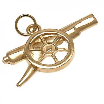 Arsenal 9ct Gold Pendant Cannon