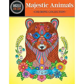 Hello Angel Majestic Animals Coloring Collection by Angela Van Dam -