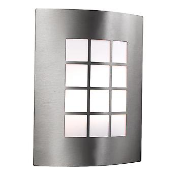 Searchlight 3140SS Stainless Steel Outside Wall Light, IP44
