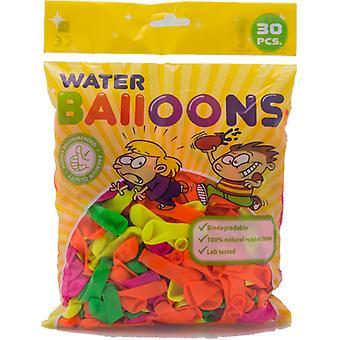 globos de agua 30-p de diferentes colores-8 cm (3