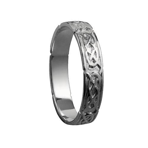 18ct white gold 4mm Celtic Wedding Ring