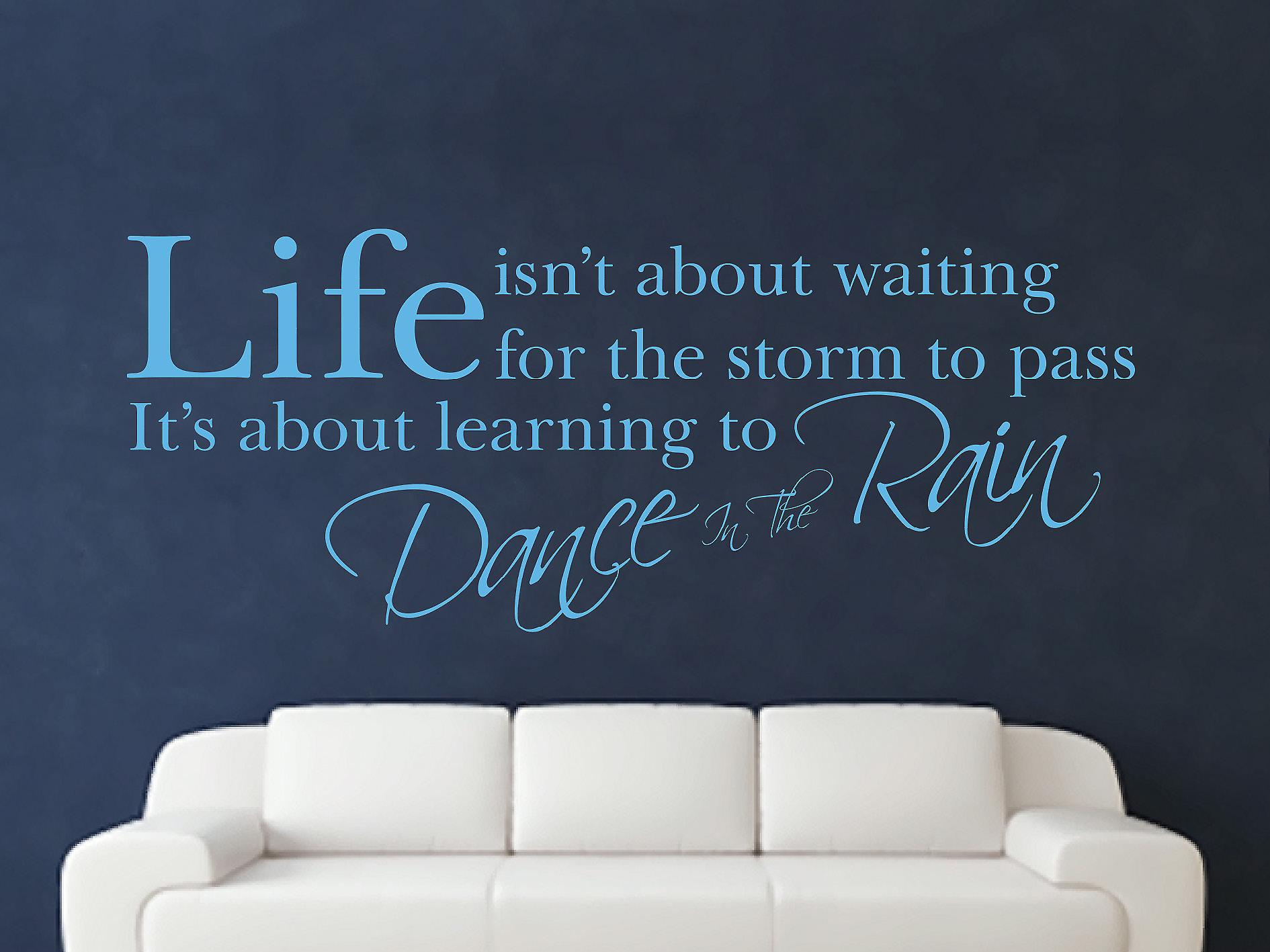 Dance In The Rain Wall Art Sticker - Arctic Blue