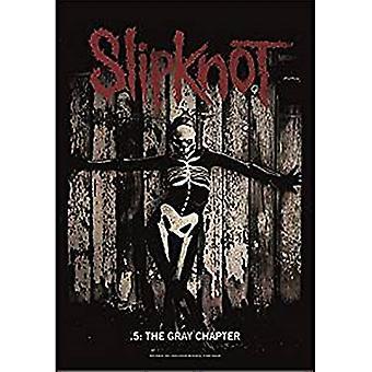 Cartaz de tela grande do Slipknot The Gray Chapter / bandeira 1100 x 750 mm (hr)