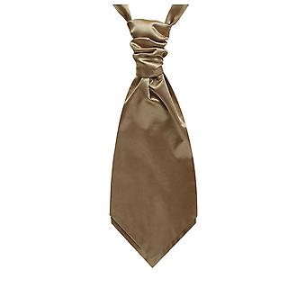 Dobell Boys Coffee Satin Cravat Party Wedding Fancy Dress Accessory