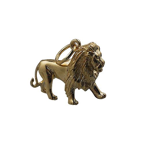 9ct Gold 15x20mm Lion Pendant or Charm