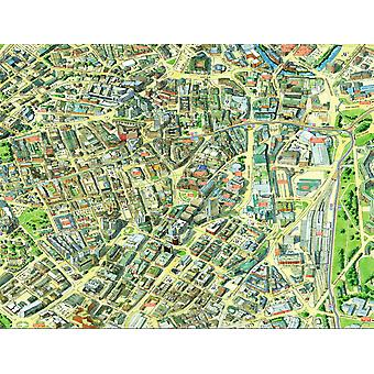 Cityscapes Street Map Of Sheffield 400 Piece Jigsaw Puzzle 470mm x 320mm (hpy)
