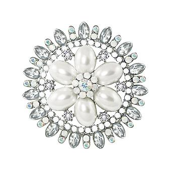 Eternal Collection Celebrity Pearl And Crystal Costume Brooch