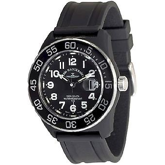 Zeno-Watch Herrenuhr Diver Look H3 Teflon black 6594Q-a1