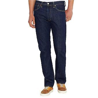 Levis 501 Jeans ein waschen dunkle Straight Leg Jeans
