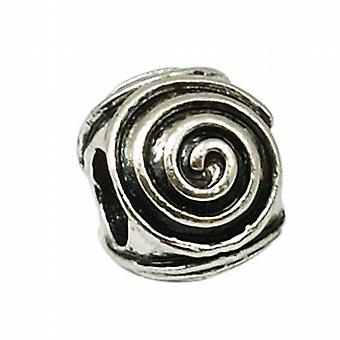 TOC BEADZ Oxidised Swirl 9mm Slide-On Off Charm Bead