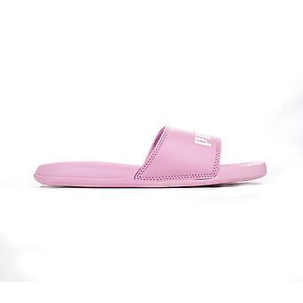 Puma Popcat Junior Kids Girls Summer Beach Flip Flop Slide Pink/White