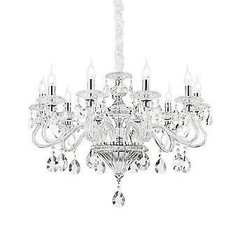 Idealne Lux - Negresco Clear Glass osiem Light Świecznik IDL141053