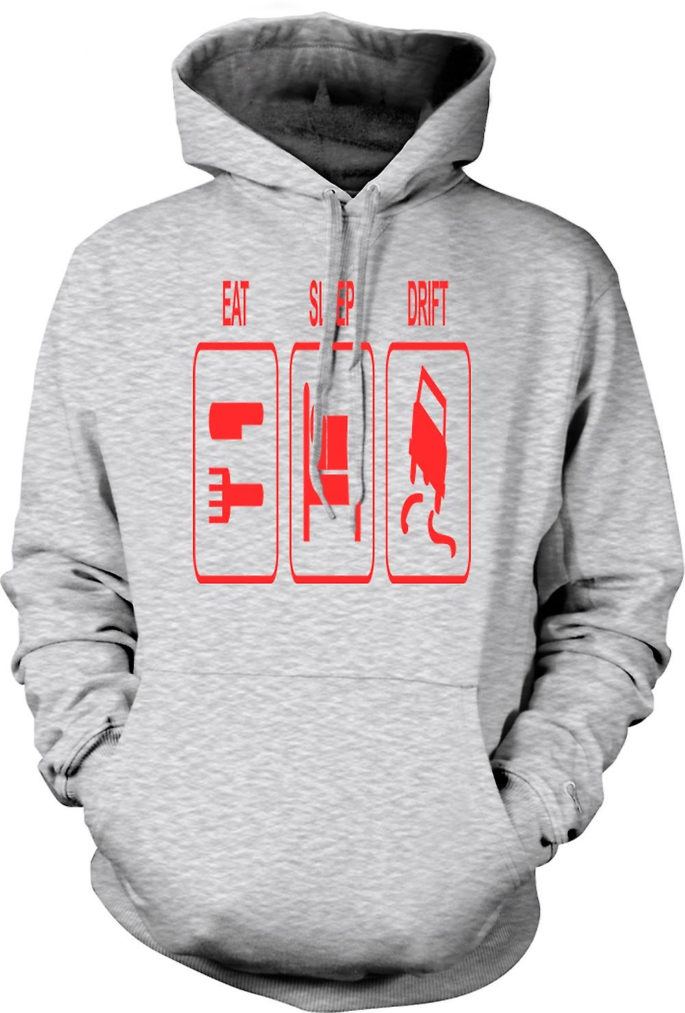 Mens Hoodie - Eat Sleep Drift - Driving
