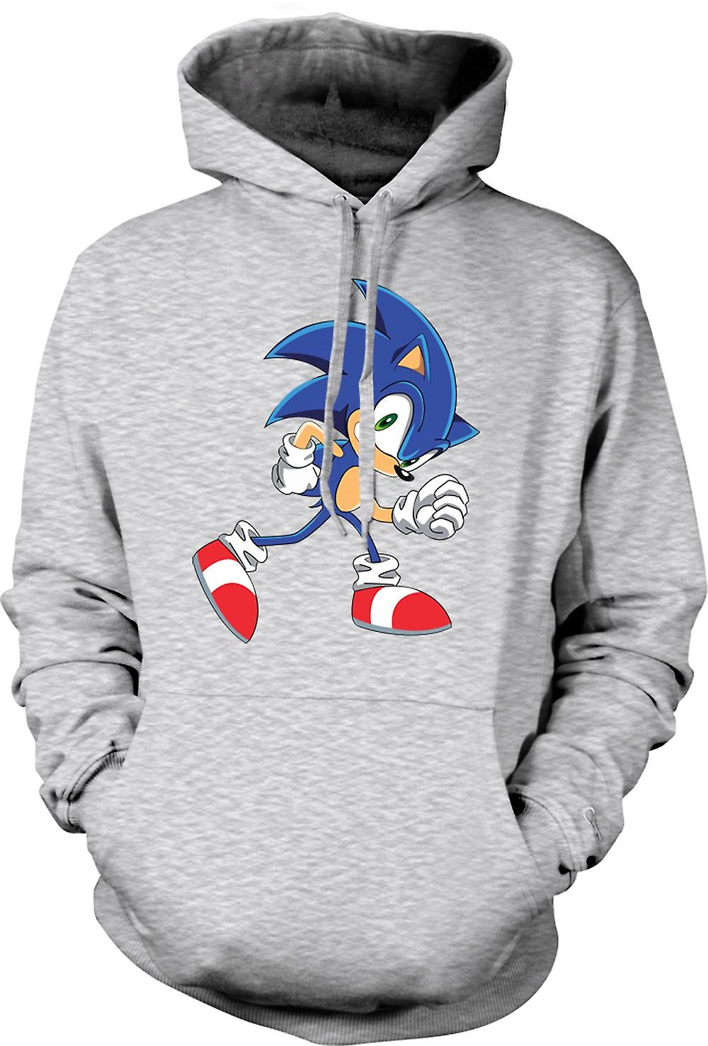 Mens Hoodie - Run Sonic Run - Sonic The Hegehog