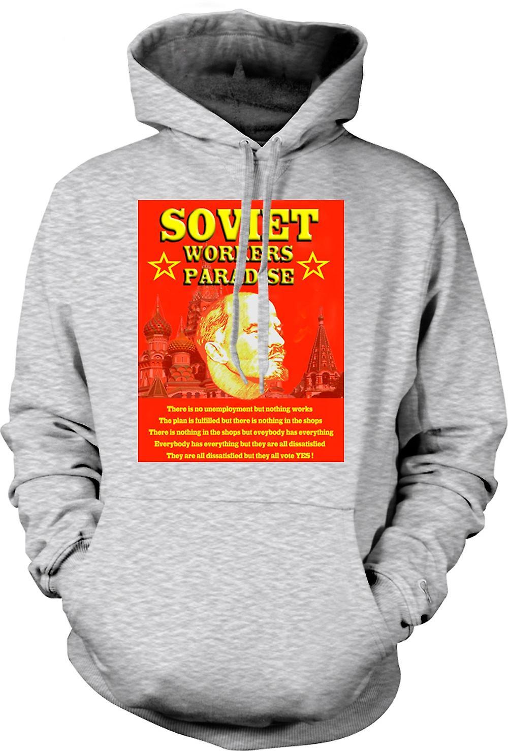 Mens Hoodie - Lenin - operai sovietici Paradise