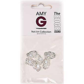 The Edge Nails Amy G - 3D Nail Art Nail Jewels - Crystal Baroque (6 PCS) (3003046)