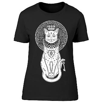 Black Cat Crown Silhouette Tee Women's -Image by Shutterstock