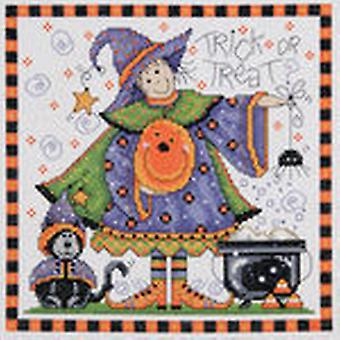 Trick Or Treat Counted Cross Stitch Kit 8