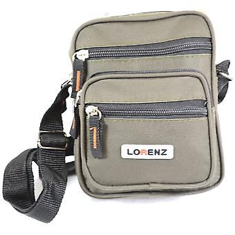 Handy Small Canvas Style Shoulder Bag / Cross Body Bag ( Black )