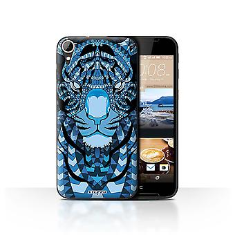 STUFF4 Case/Cover for HTC Desire 830/Tiger-Blue/Aztec Animal