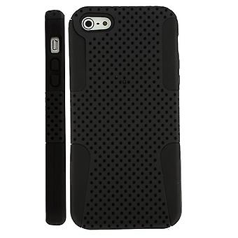 Two plastic cover PC and iPhone Silicon 5/5S (black)