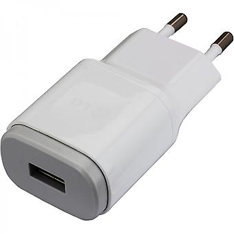 LG travel charger USB power adapter 1800mAh MCS 04ED with data cable - white