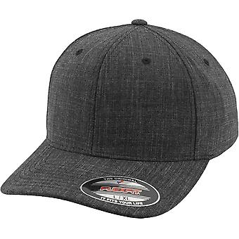 Flexfit FINE MELANGE Stretchable curved Cap - Black