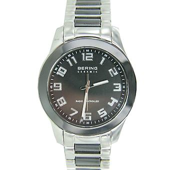 Bering mens watch wristwatch ceramic 33041-742 radio watch stainless steel