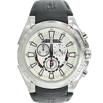 Polisen mens watch armbandsur läder analoga Chrono PL 14312JS/04