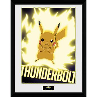 Pokemon torden Bolt Pikachu Collector Print