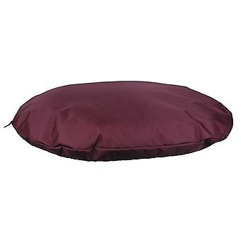 Paese cane resistente impermeabile ovale Cuscino Borgogna 76x60x15cm
