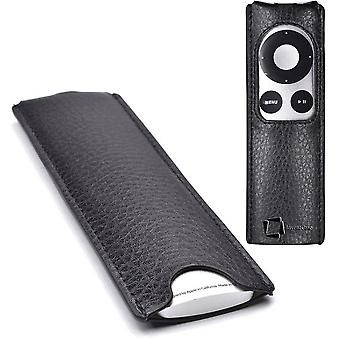 InventCase Apple TV (2nd and 3rd Generation) Remote Control Protective Leather Case Cover Wallet Slip Pouch - Black